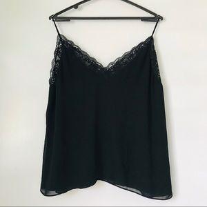 Zara black lace camisole